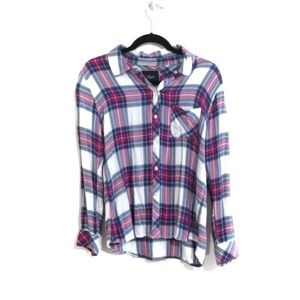 Rails Hunter Plaid Flannel Pink Blue White